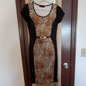 Annabelle Cheetah Cocktail Dress